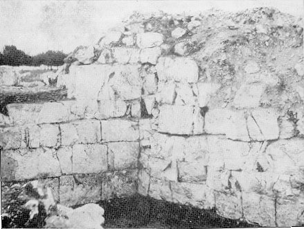 A fragment of the inner side of the ashlar-built wall.